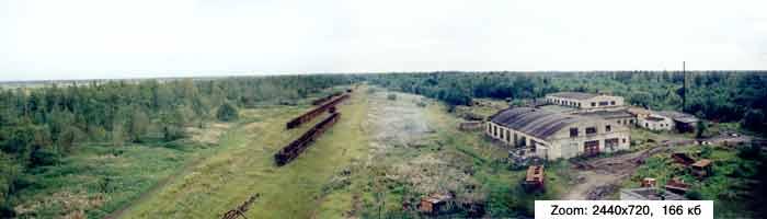 Панорама сортировочной станции.